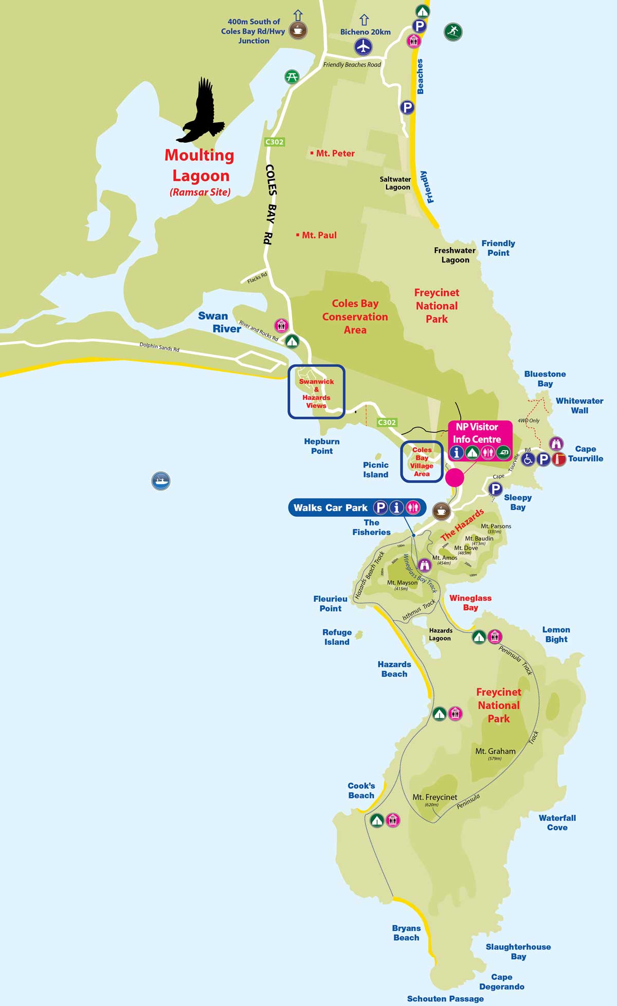 Map of Freycinet peninsula