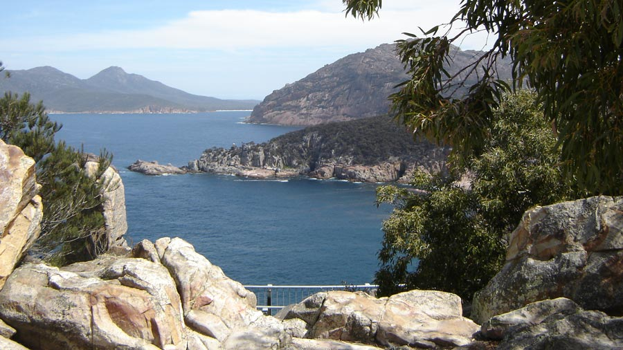 View to wineglass bay