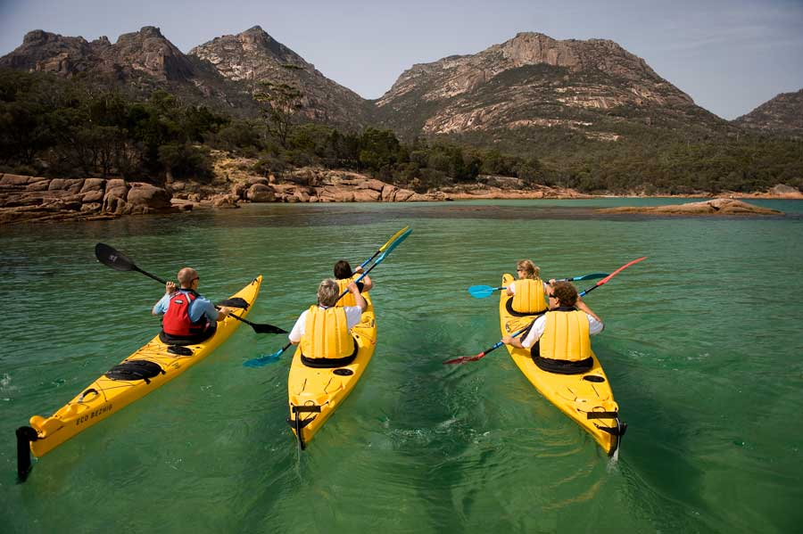 Freycinet Paddle with Hazards in background