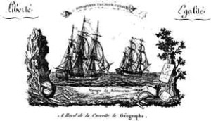 The vessels 'Le Geographe' and 'Le Naturaliste