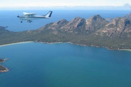 Freycinet Air plane flight Tasmania