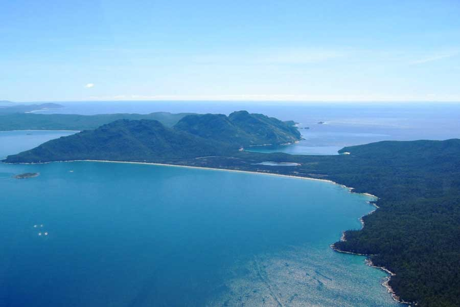 Freycinet air view