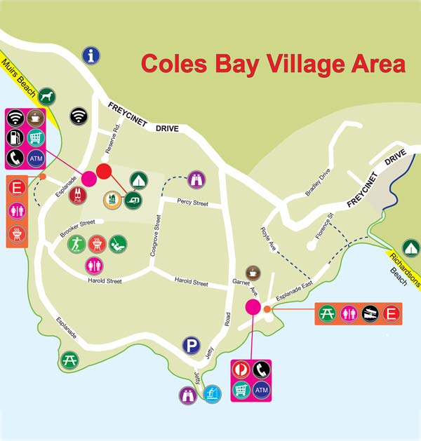 Map of Coles Bay