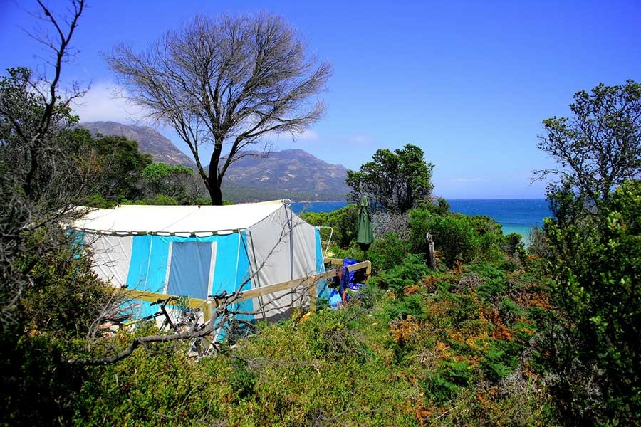Richardsons Beach camping Tasmania
