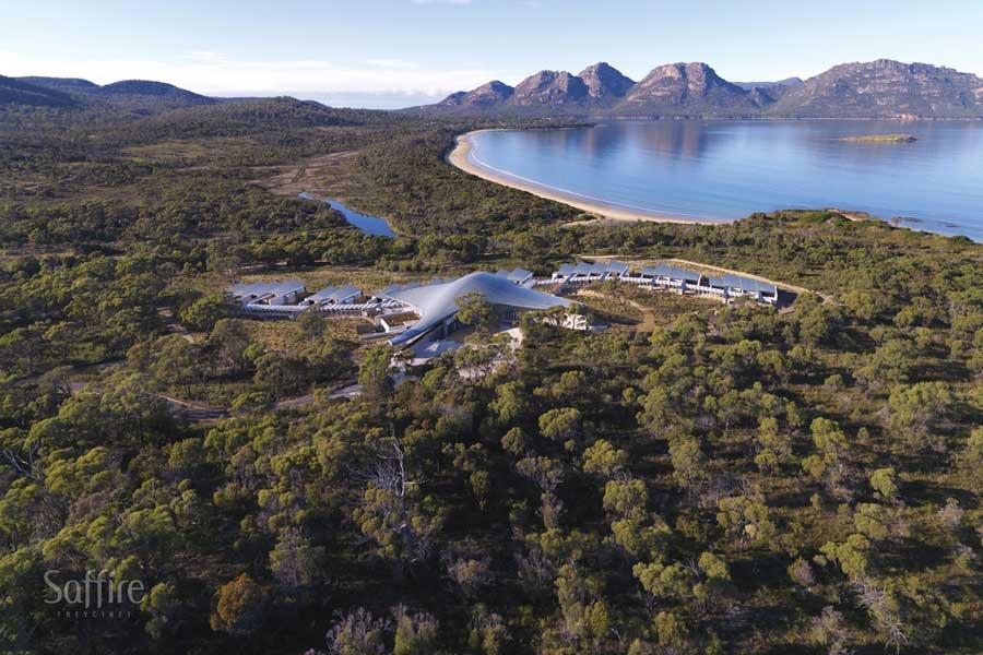 Aerial Saffire East coast Tasmania