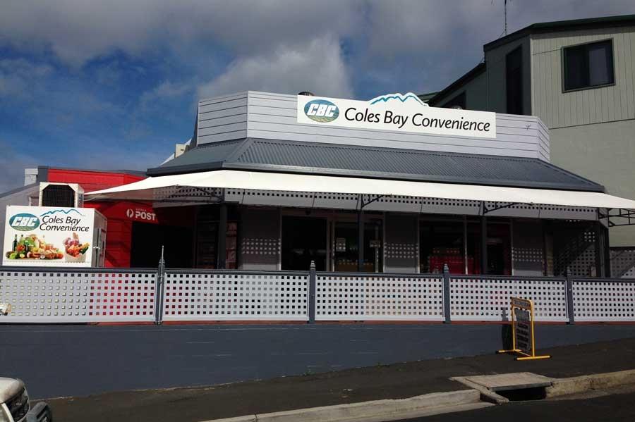 Coles bay convenience tasmanian food