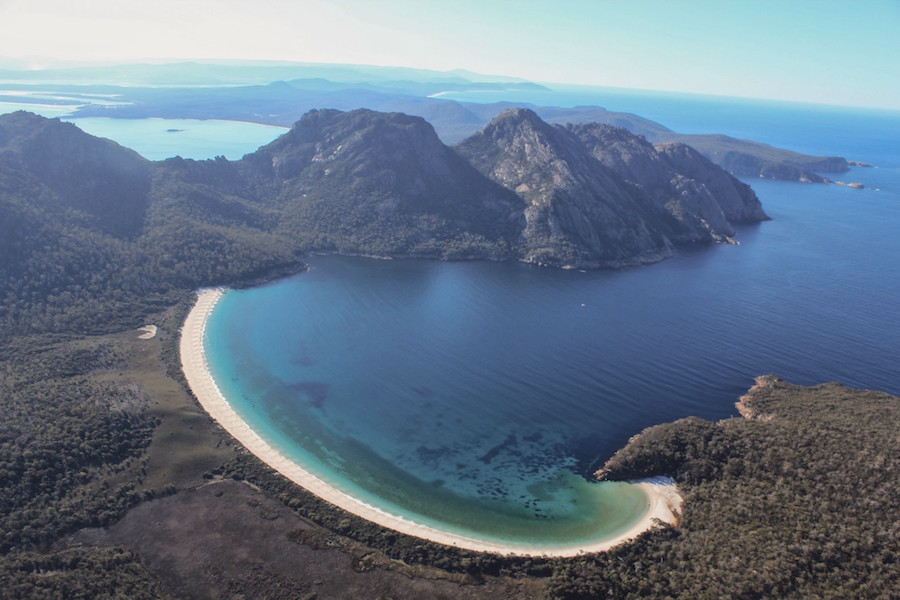 Freycinet Air, wineglass bay, great eastern drive
