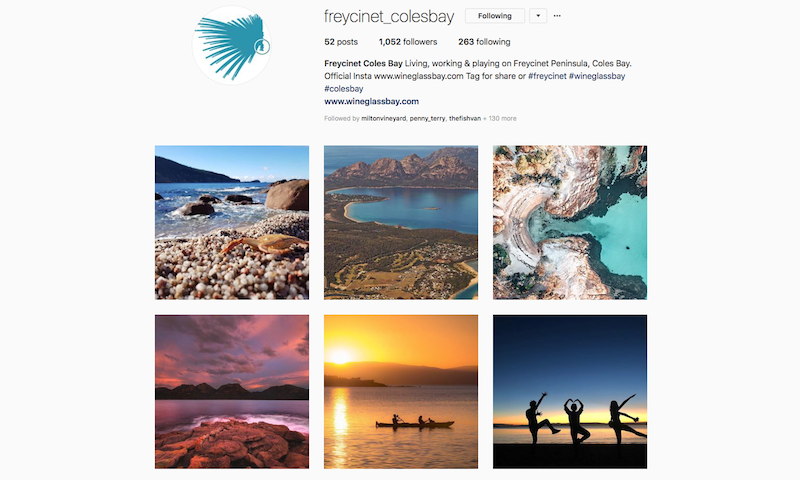 freycinet coles bay instagram